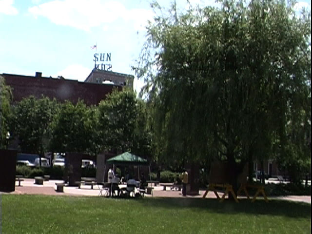 View of park from north